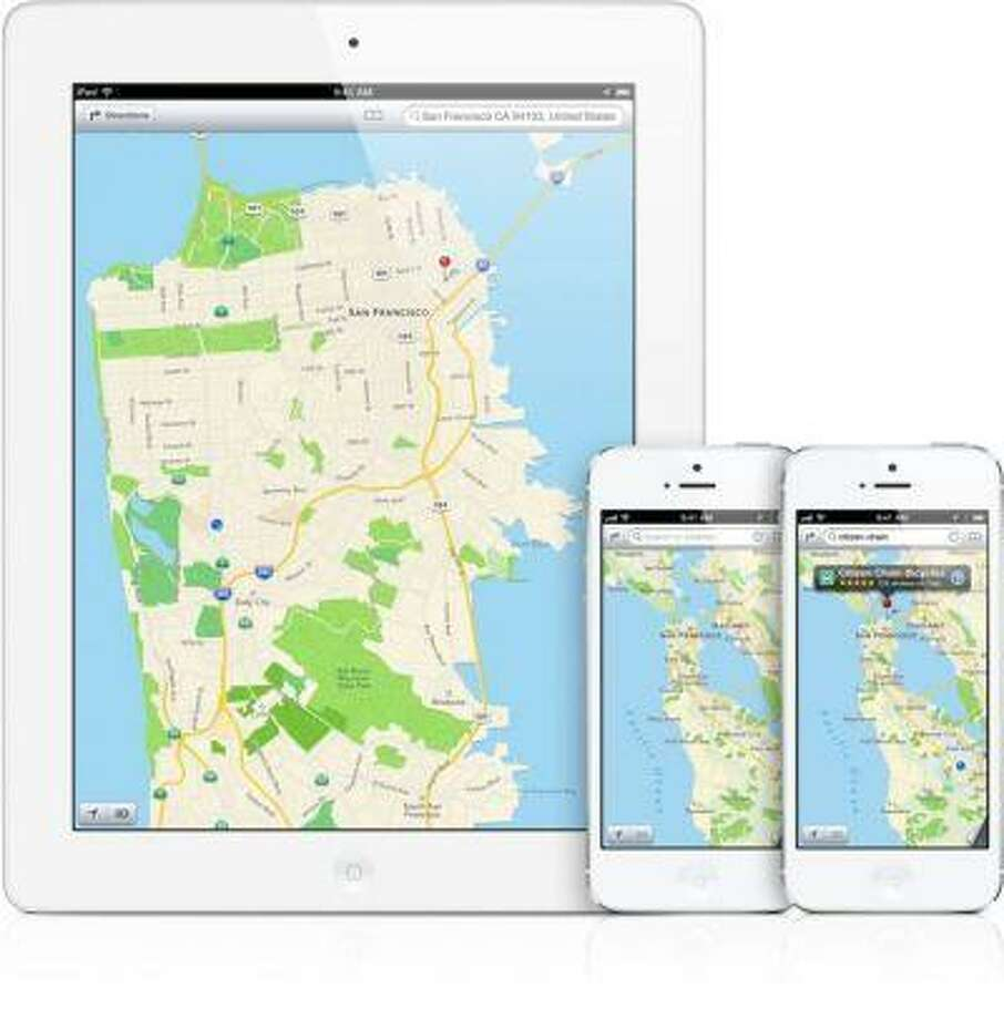 The Maps application on iOS (Apple)