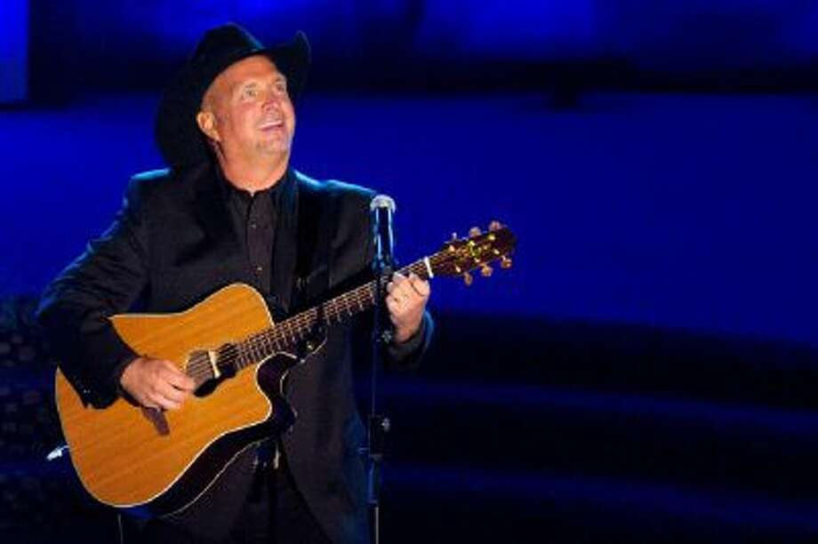 This June 16, 2011 photo shows inductee Garth Brooks performing onstage at the 42nd Annual Songwriters Hall of Fame Awards in New York.