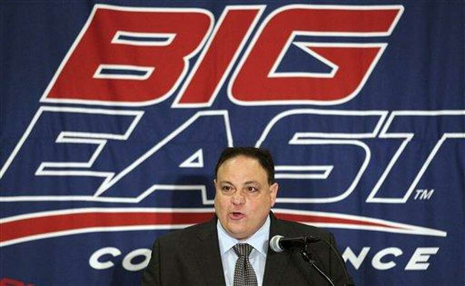 FILE - In this Aug. 2, 2011, file photo, Big East commissioner John Marinatto speaks to reporters during Big East NCAA college football media day in Newport, R.I. Photo: ASSOCIATED PRESS / AP2011