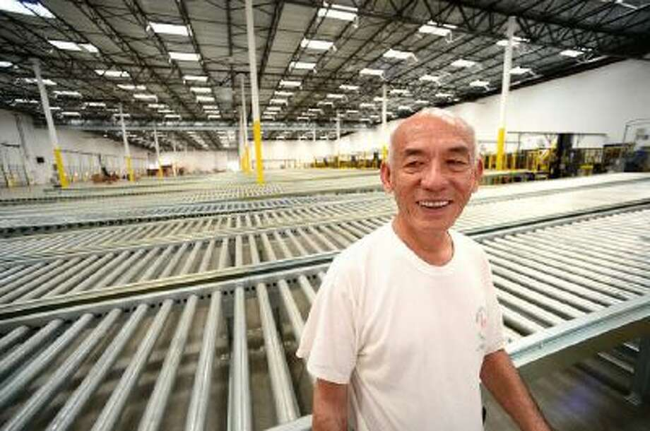 David Tran, owner of Huy Fong Foods, which makes Sriracha chili sauce, at his 650,000 square foot factory in Irwindale, Calif.