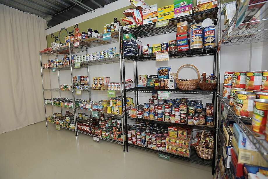 The new Harwinton food pantry was stocked by donations by town residents and a food drive at the Harwinton Consolidated School. LAURIE GABOARDI/Register Citizen. Photo: Journal Register Co.