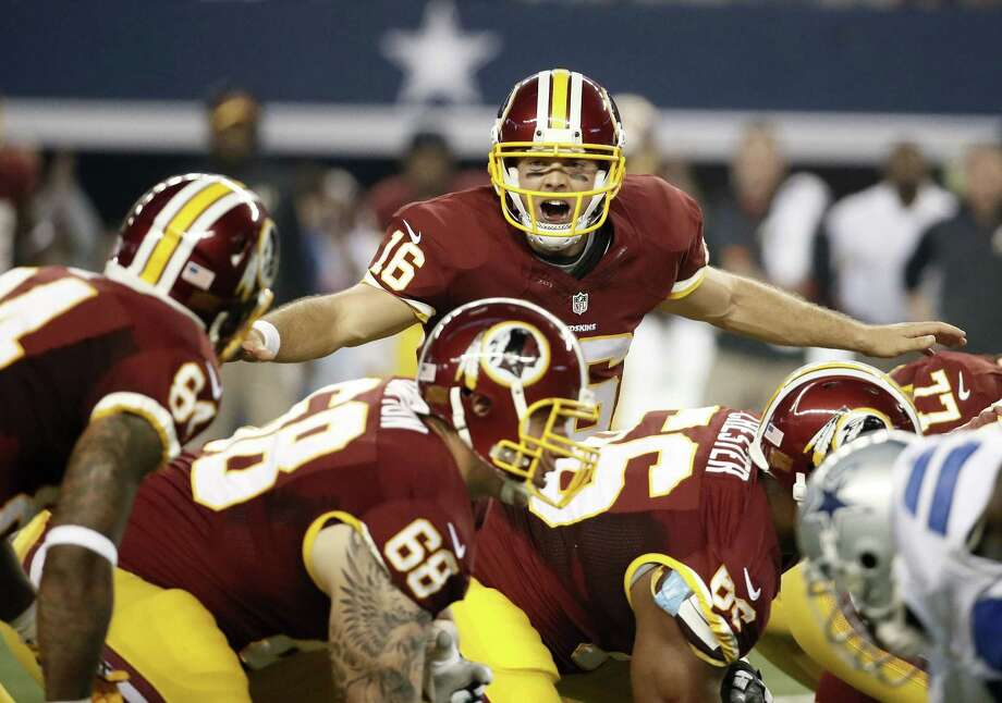 Washington will start Colt McCoy over Robert Griffin III on Sunday against the Indianapolis Colts. Photo: Brandon Wade — The Associated Press File Photo  / FR168019 AP