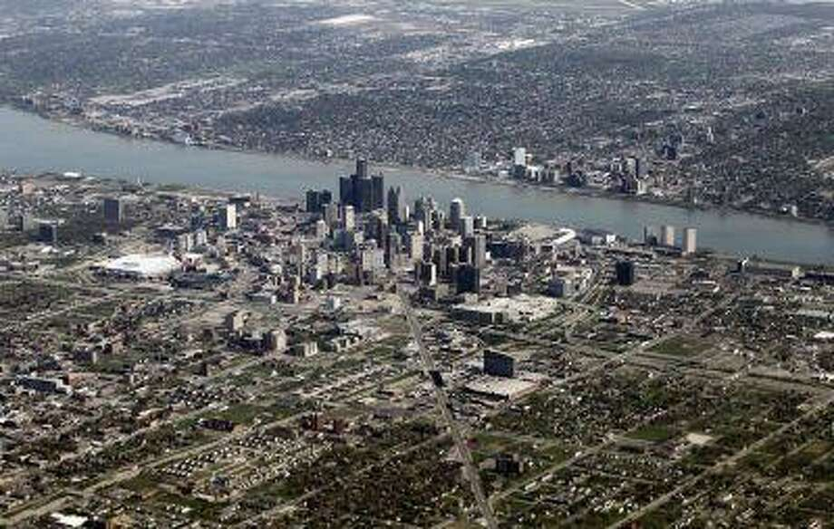 An aerial view of Detroit, Michigan, April 18, 2012. / X00458