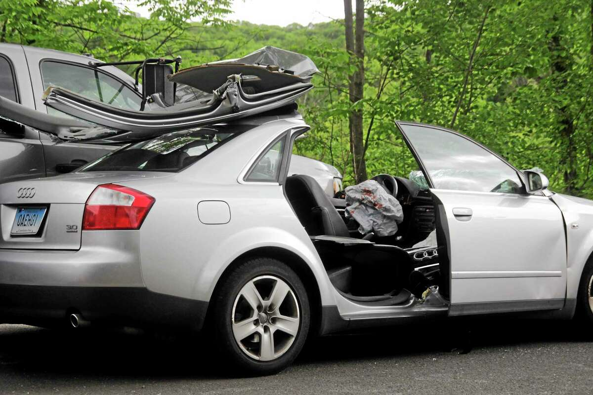 A 2003 Audi A4 was involved in a two-car crash on Route 44 in Barkhamsted Friday.