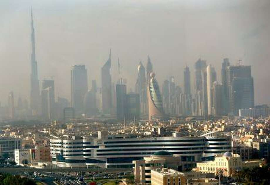 Part of the skyline of the city of Dubai as it appeared in the early hours of the morning from the Dubai Chamber of Commerce and Industry building, on November 20, 2012. Photo: AFP/Getty Images / 2012 AFP
