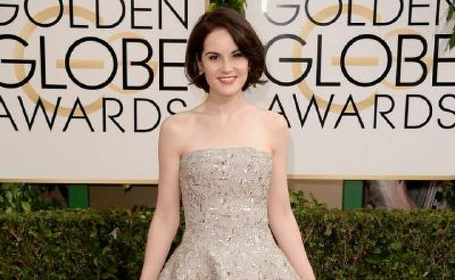Actress Michelle Dockery attends the 71st Annual Golden Globe Awards held at The Beverly Hilton Hotel on January 12, 2014 in Beverly Hills, California.
