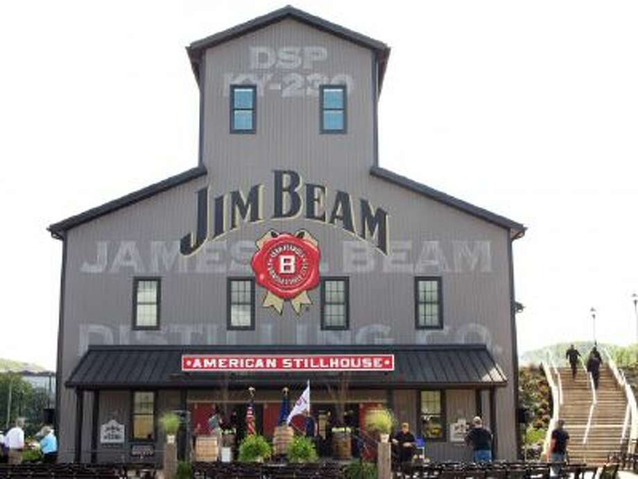 This Oct. 3, 2012, file photo, shows the Jim Beam visitors center at its central distillery in Clermont, Ky.
