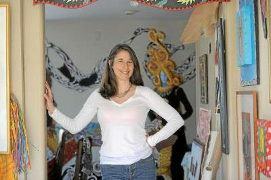 Photo by Laurie Gaboardi -- Danielle Mailer in her Goshen studio.