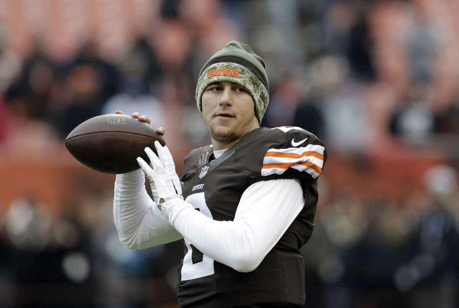 Cleveland Browns quarterback Johnny Manziel. Photo: The Associated Press File Photo  / AP