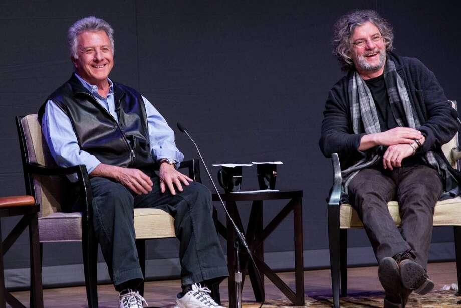 Academy Award-winning actor Dustin Hoffman, left, and director François Girard speak Thursday at Fairfield University's Regina A. Quick Center for the Arts in Fairfield. Photo: Photo: Kate Eisemann  / ©2013