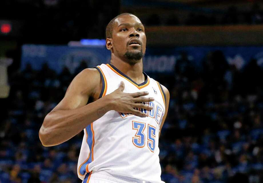 Oklahoma City Thunder forward Kevin Durant is the lone unanimous choice to the All-NBA first team. Photo: Sue Ogrocki — The Associated Press  / AP