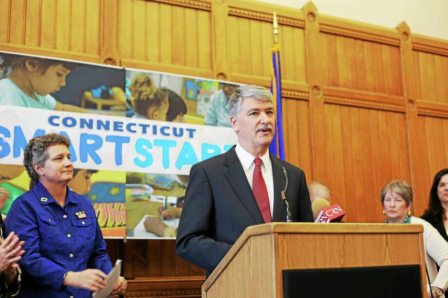 State Sen. Donald Williams, D-Brooklyn, speaks at a press conference alongside fellow Sen. Beth Bye, D-West Hartford. Photo: Christine Stuart — CTNewsJunkie.com — File Photo