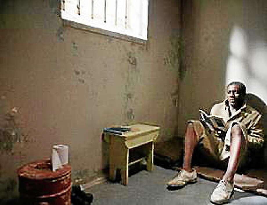 """Idris Elba as Nelson Mandela in """"Mandela: Long Walk to Freedom."""" Photo: (Keith Bernstein — Weinstein)"""