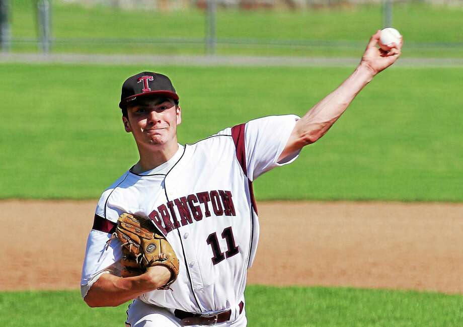 Torrington's Shane Bierfeldt went 8.2 innings, struck out six batters and allowed just one run. Bierfeldt didn't factor into the decision. Torrington won the game 2-1 in 10 innings. Photo: Marianne Killackey — Special To The Register Citizen  / 2013