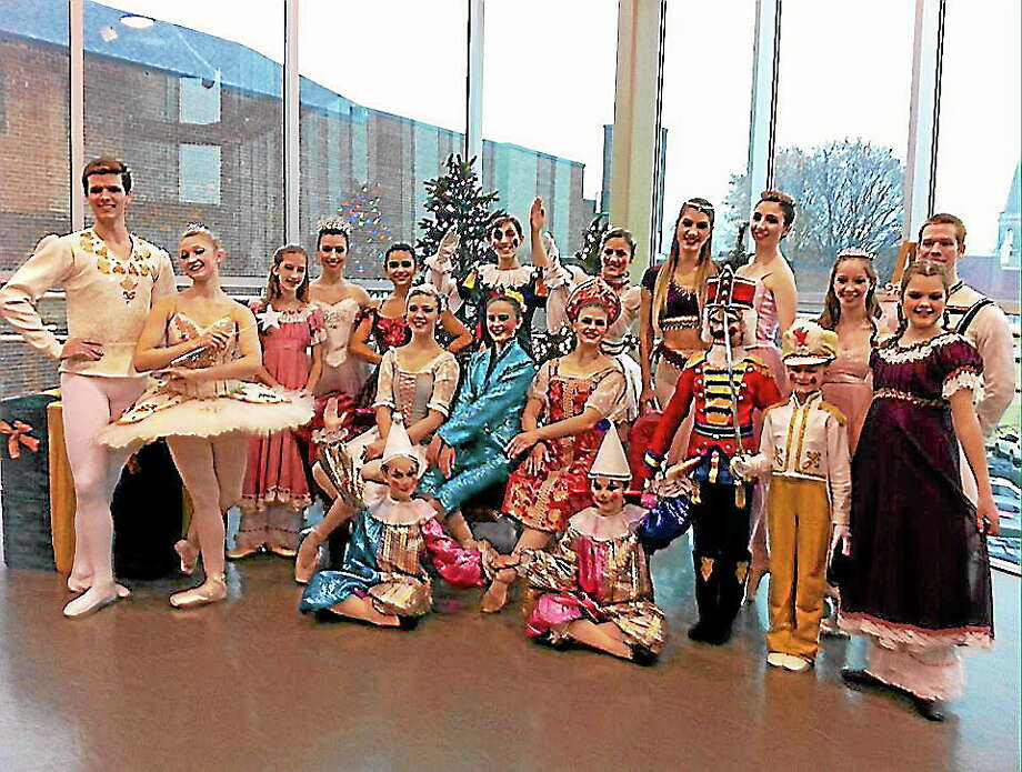 """Submitted photo - Nutmeg ConservatoryAbove, characters from """"The Nutcracker"""" who greeted young guests at the Nov. 17 Sugar Plum Tea Party. Photo: Journal Register Co."""