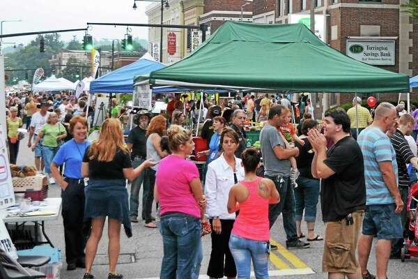 Crowds lined the street during Torrington's Main Street Marketplace in August 2013.