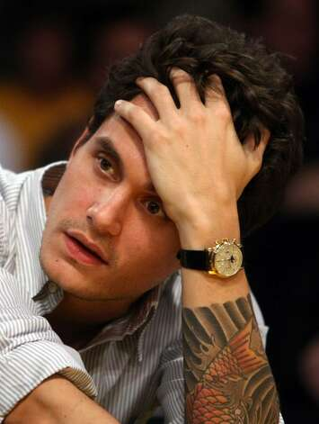 LOS ANGELES, CA - MAY 19:  Musician John Mayer attends Game One of the Western Conference Finals during the 2009 NBA Playoffs between the Los Angeles Lakers and the Denver Nuggets at Staples Center on May 19, 2009 in Los Angeles, California. NOTE TO USER: User expressly acknowledges and agrees that, by downloading and or using this photograph, User is consenting to the terms and conditions of the Getty Images License Agreement.  (Photo by Stephen Dunn/Getty Images) *** Local Caption *** John Mayer Photo: Stephen Dunn, Getty Images / 2009 Getty Images