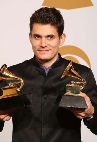 "LOS ANGELES, CA - FEBRUARY 08:  Musician John Mayer, winner of two awards, Best Male Pop Vocal Performance for ""Say"" and Best Solo Rock Vocal Performance for ""Gravity"" poses in the press room during the 51st Annual Grammy Awards held at the Staples Center on February 8, 2009 in Los Angeles, California.  (Photo by Jason Merritt/Getty Images) *** Local Caption *** John Mayer Photo: Jason Merritt, Getty Images / 2009 Getty Images"