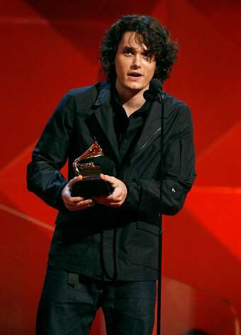 "LOS ANGELES, CA - FEBRUARY 11:  Musician John Mayer accepts his award for ""Best Pop Vocal Album"" onstage at the 49th Annual Grammy Awards at the Staples Center on February 11, 2007 in Los Angeles, California.  (Photo by Kevin Winter/Getty Images) *** Local Caption *** John Mayer Photo: Kevin Winter, Getty Images / 2007 Getty Images"