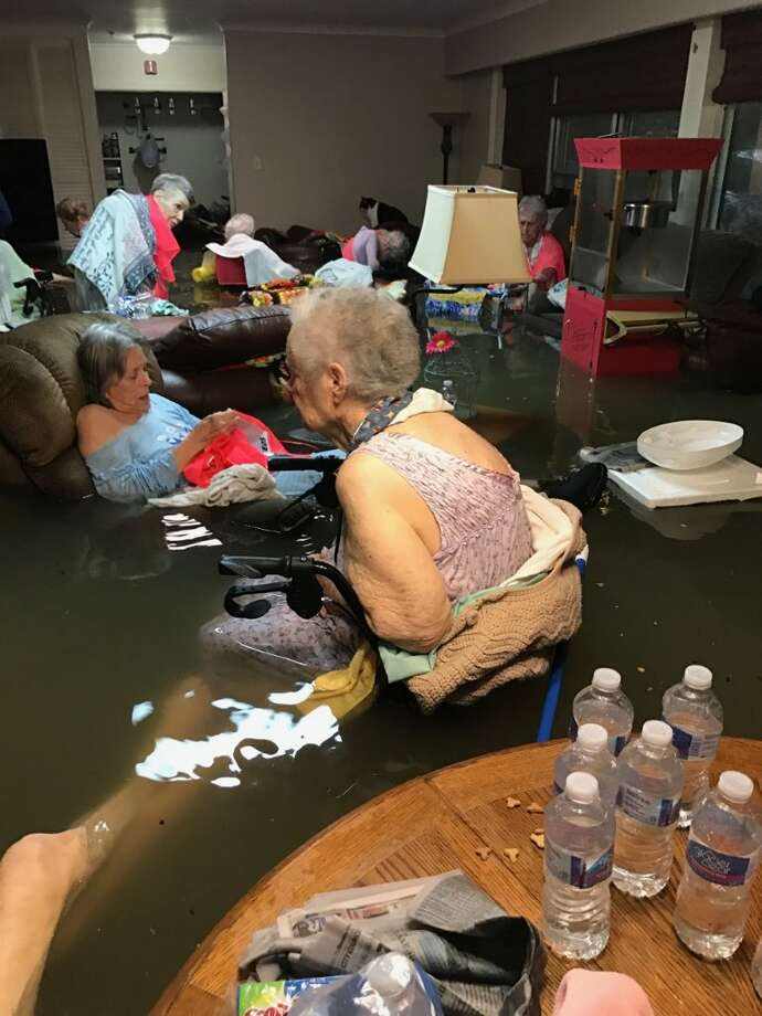 Residents at the La Vita Bella nursing home in Dickinson were rescued after Timothy McIntosh tweeted the photo on Aug. 27, 2017.See photos of Hurricane Harvey shared by Chron.com readers ahead.  Photo: Timothy McIntosh