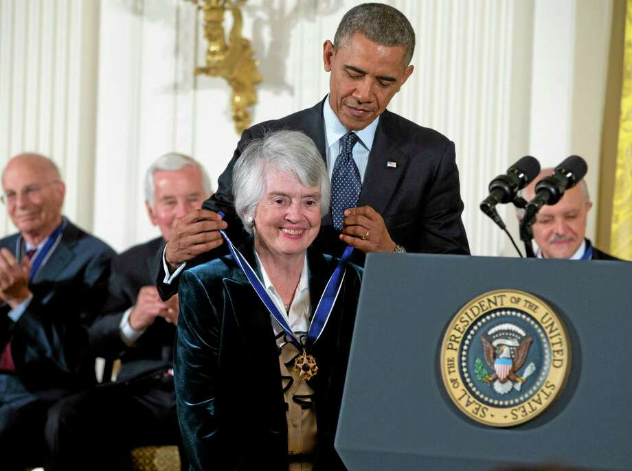 President Barack Obama awards judge Patricia Wald, a Torrington native, with the Presidential Medal of Freedom, Wednesday, Nov. 20, 2013, during a ceremony in the East Room of the White House in Washington. Photo: Evan Vucci—The Associated Press  / AP