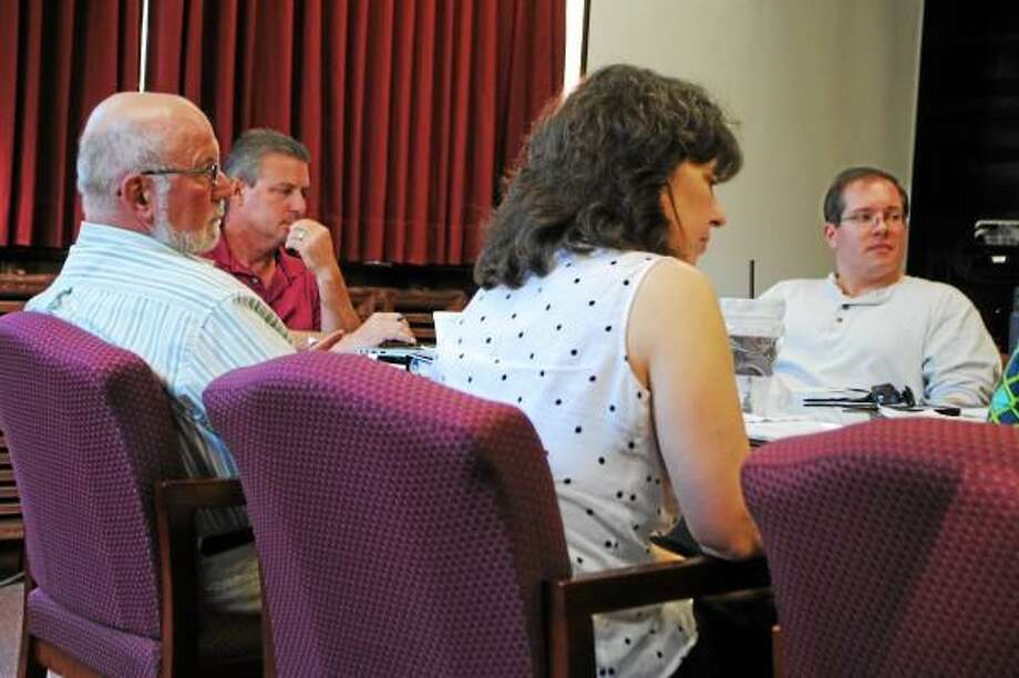 Jessica Glenza--Register Citizen - Torrington Board of Education members discuss board goals for 2013-2014.
