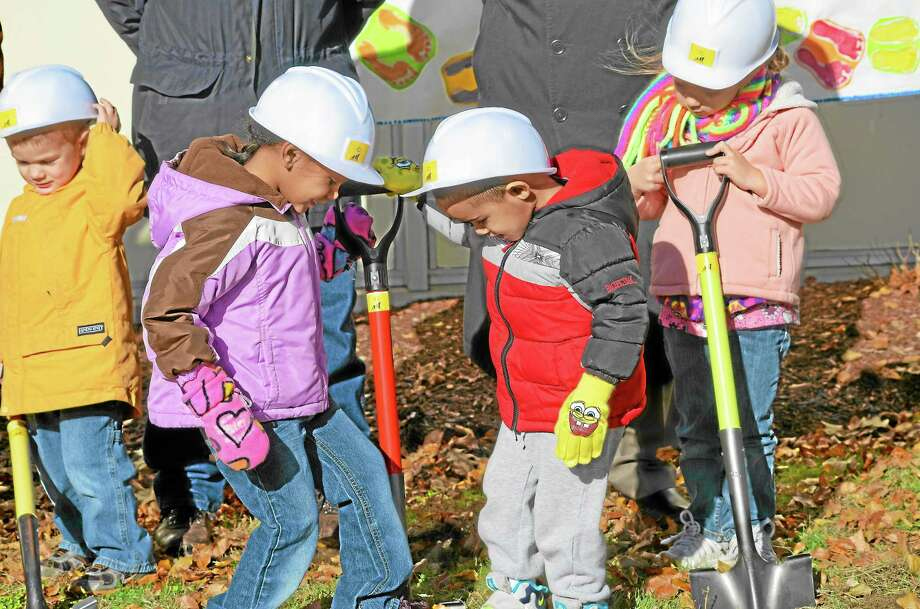 The children helpers from Brooker Memorial's Child Care Center, (left to right) Andrew Vanormer, Maraih Machado, Jeremiah Drumwright, and Juliana Wood. Photo: Jenny Golfin—Register Citizen