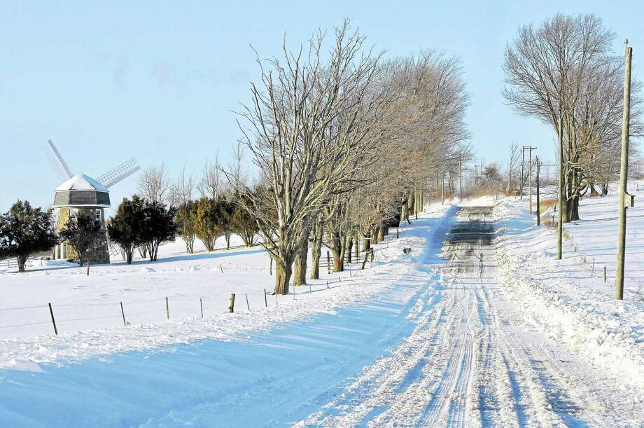 Wigwam Rd. in Litchfield was one of many roads that were passable, but not in great shape on Friday. Laurie Gaboardi - The Register Citizen Photo: Journal Register Co.