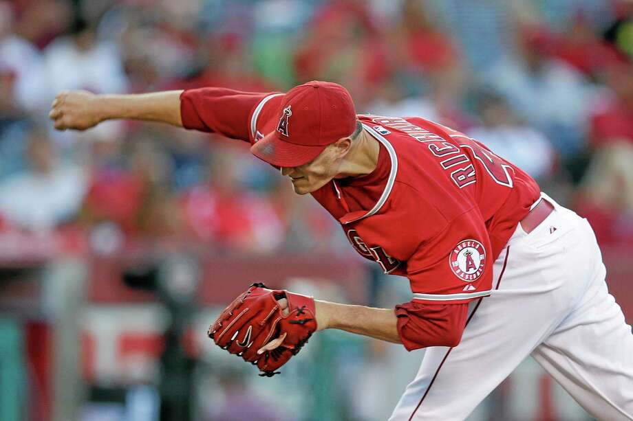 Garrett Richards is the ace of the Los Angeles Angels, the No. 2 team in the Register MLB Rankings, and sports an 11-3 record and 2.62 ERA. Yet somehow he wasn't an all-star. Photo: Jae C. Hong — The Associated Press  / AP