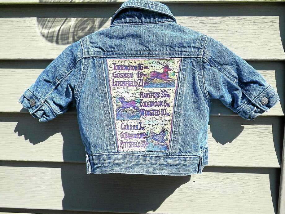 A child's denim jacket with a custom graphic by Quailie's Kids. Photo: Contributed Photo—Rachel Hannon Harrel