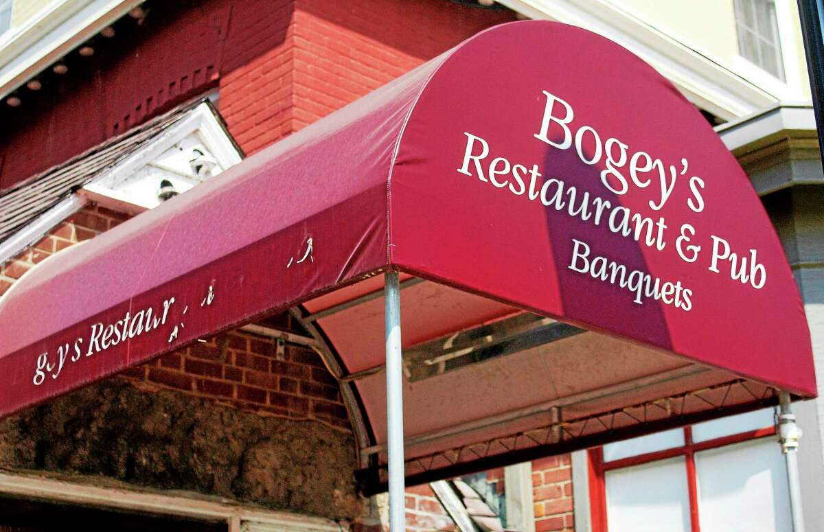 Outside Bogey's Restaurant and Pub on Wednesday on Main Street in downtown Torrington. The restaurant is closing after eight years in business inside the Yankee Pedlar Inn.