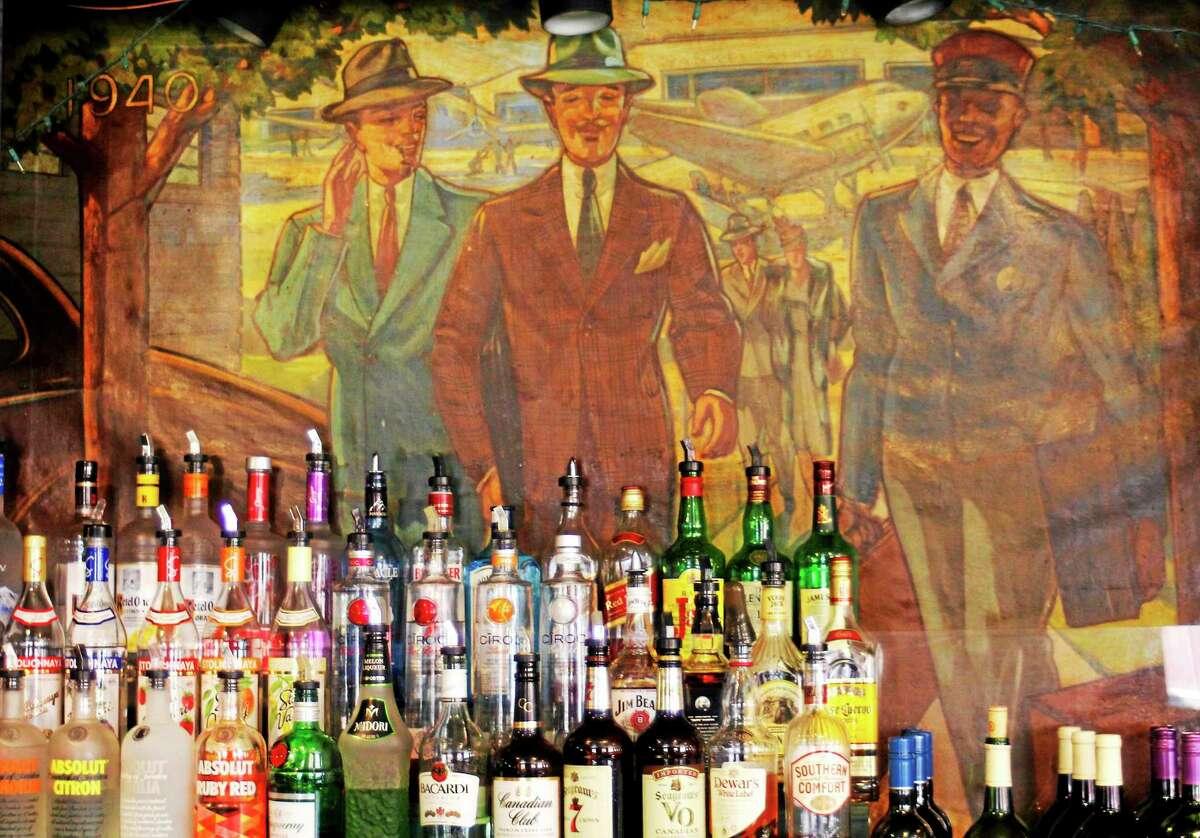 The bar inside Bogey's Restaurant as seen Wednesday in Torrington.