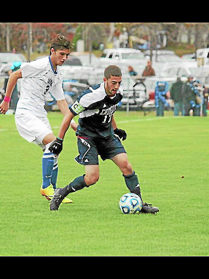 Former Torrington Red Raider and four-year Endicott College player Brett Longobucco made a name for himself as a versatile defender and finished his senior season as a captain,. Photo: Submitted Photo
