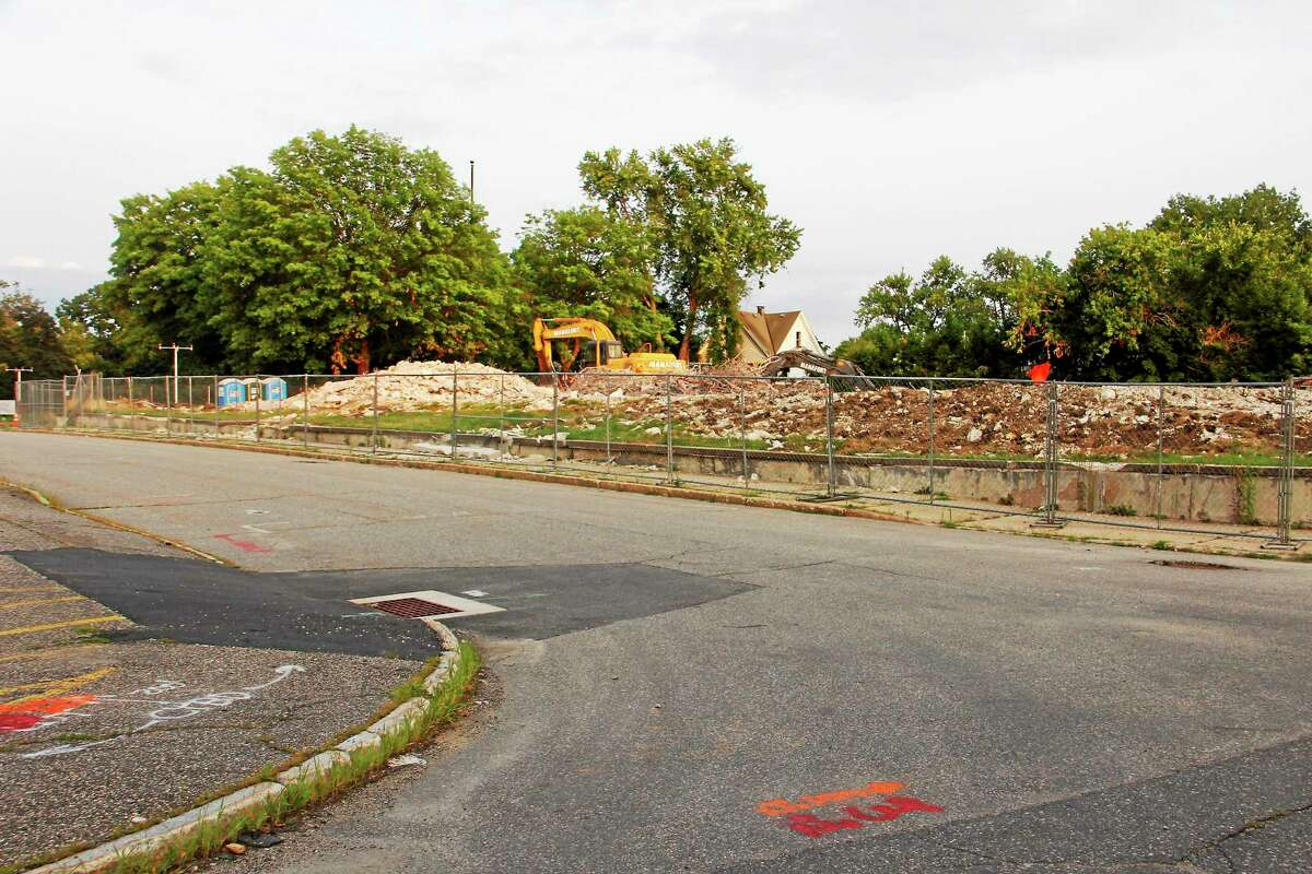 A section of Clark Street seen Monday in Torrington. The city council voted to discontinue a portion of the street, which sits next to a demolition site that's also being completed in anticipation of the Litchfield County Courthouse complex. Construction on the site is slated to begin next month.