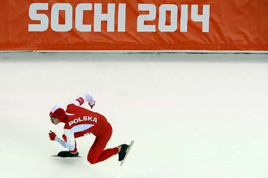 Artur Was of Poland competes during the Men's 500 m Race 1 of 2 Speed Skating event during day 3 of the Sochi 2014 Winter Olympics at Adler Arena Skating Center on February 10, 2014 in Sochi, Russia. Photo: Getty Images / 2014 Getty Images