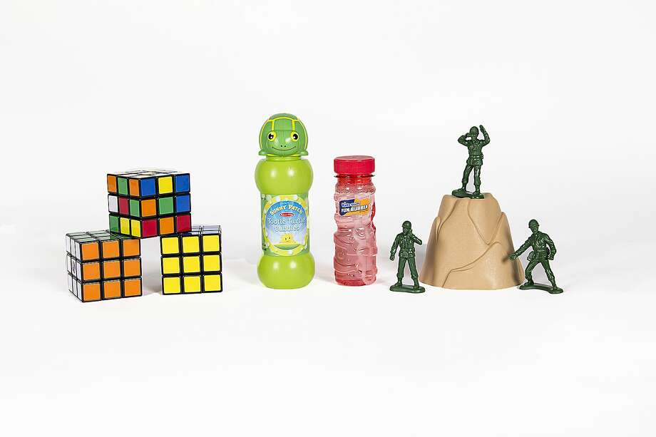 New additions to the National Toy Hall of Fame are seen in an undated photo provided by the National Toy Hall of Fame. Little green army men, along with the Rubik's Cube and bubbles, were announced Thursday, Nov. 6, 2014 as the newest additions to the National Toy Hall of Fame in Rochester, N.Y. The toys enter the Rochester museum after being selected by a panel of expert judges from among a dozen finalists. (AP Photo/National Toy Hall of Fame) Photo: AP / National Toy Hall of Fame