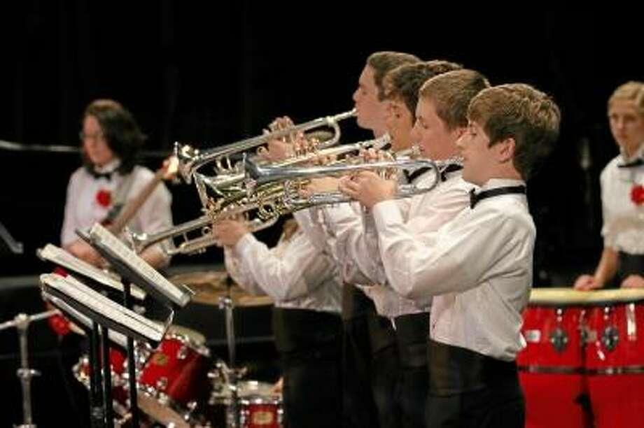 Submitted photo. Torrington High School Jazz Ensemble at the UMASS Jazz Festival.