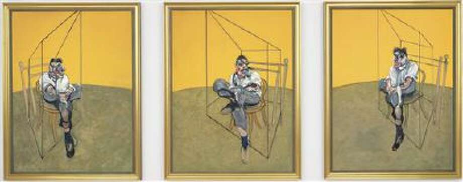 "This undated photo provided by Christie's shows ""Three Studies of Lucian Freud,"" a triptych by Francis Bacon of his friend and artist Lucian Freud. The 1969 painting by Bacon set a world record for the most expensive artwork ever sold at auction when it sold Tuesday evening Nov. 12, 2013 for $142.4 million. Photo: AP / Christie?s"