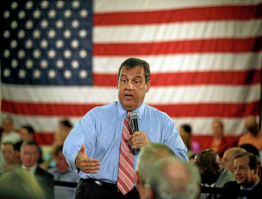 In this June 2 file photo, New Jersey Gov. Chris Christie addresses a gathering at a town hall meeting in Haddon Heights, N.J. Christie is chairman of the Republican Governors Association. Photo: AP File Photo   / AP