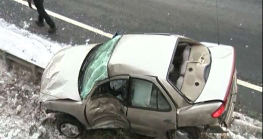 Car driven by Shamar Brooks. Photo: Photo Courtesy Of WTNH