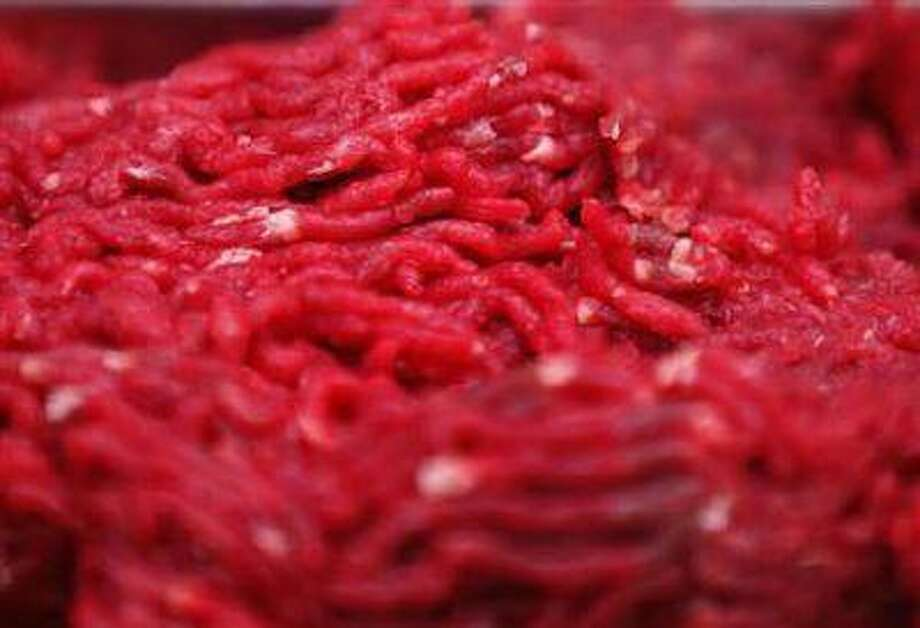 Minced horsemeat is seen at a horse butchery in Dortmund February 14.