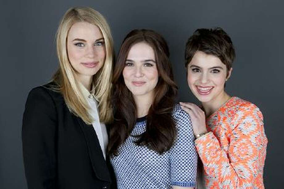"""This Jan. 28, 2014 photo shows co-stars of the film """"Vampire Academy,"""" from left, Lucy Fry, Zoey Deutch and Sami Gayle posing for a portrait in New York. Photo: Amy Sussman/Invision/AP / AP2014"""