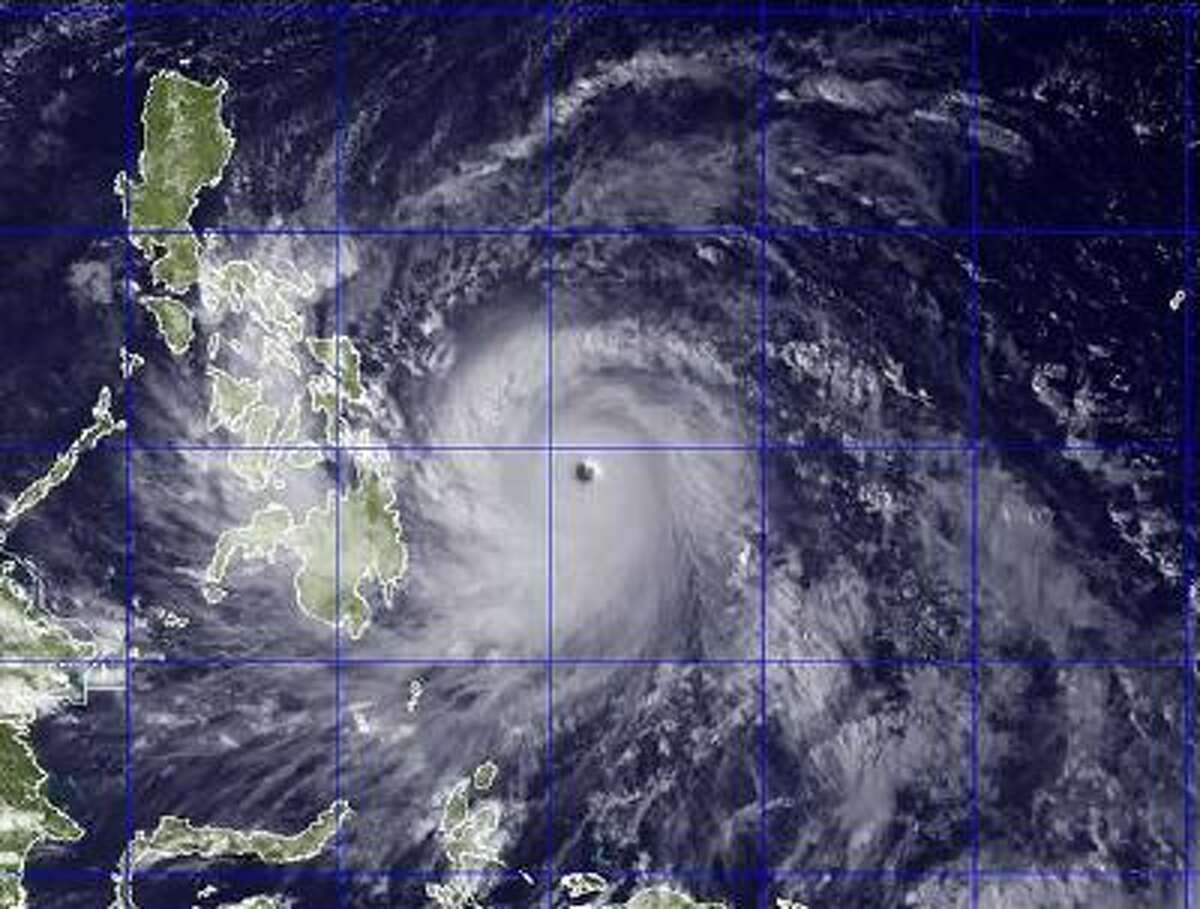 This image provided by the U.S. Naval Research Lab shows Typhoon Haiyan taken by the NEXSAT satellite Thursday Nov. 7, 2013 at 2:30 a.m. ET.