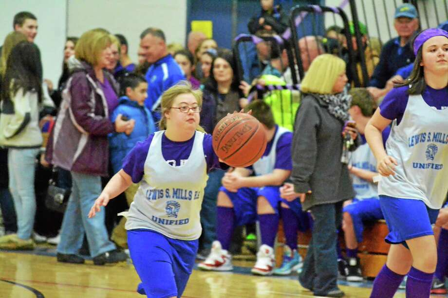 Lewis Mills and Northwestern held a Unified Game before they played against each other on Friday night. Photo: Pete Paguaga — Register Citizen