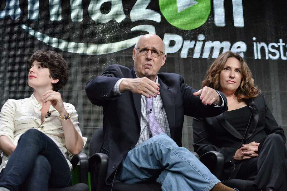 "From left, Gaby Hoffmann, Jeffrey Tambor, and Jill Soloway speak onstage during the ""Transparent"" panel at the Amazon 2014 Summer TCA on Saturday, July 12, 2014, in Beverly Hills, Calif. Photo: Richard Shotwell/Invision/AP / Invision"