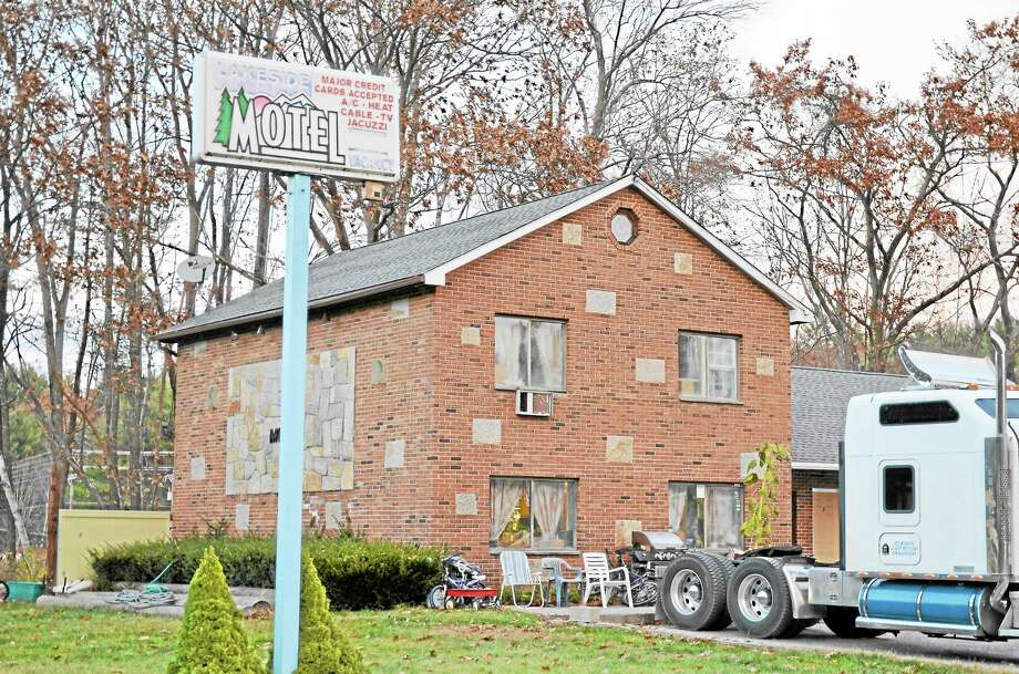 The Lakeside Motel on Tuesday, Nov. 12, 2013. A man was found dead at the motel on Nov. 3 and is suspected to have died from heroin use. Photo: Esteban L. Hernandez — Register Citizen