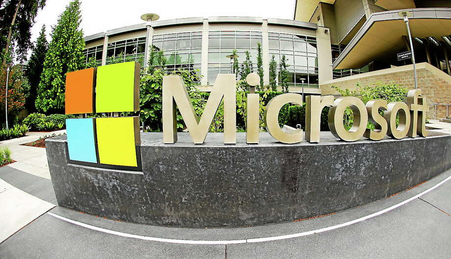 (AP Photo Ted S. Warren) Microsoft Corp. signage outside the Microsoft Visitor Center in Redmond, Wash. Photo: AP / AP