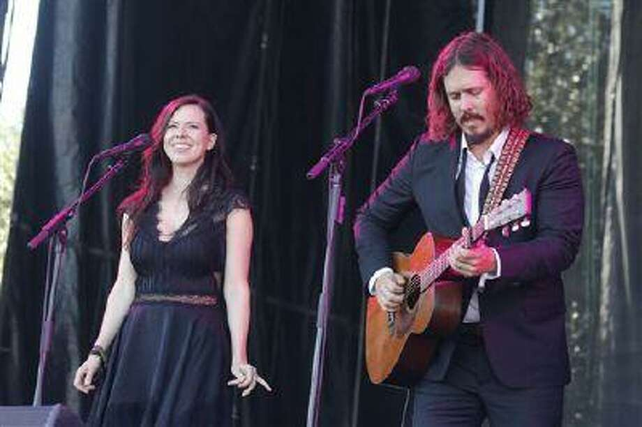 FILE - In this Oct. 14, 2012 file photo, John Paul White, right, and Joy Williams of The Civil Wars perform at the Austin City Limits Music Festival, in Austin, Texas. Williams and White are on hiatus and are not speaking to each other but will release their new self-titled second album on Aug. 6, 2013. (Photo by Jack Plunkett/Invision/AP, File) Photo: Jack Plunkett/Invision/AP / Invision