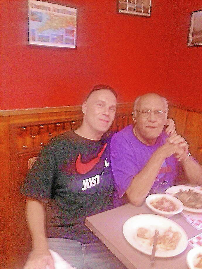 Dale Rinaldi, left, and his father Dominic Rinaldi, of Torrington.From Dale Rinaldi's Facebook page Photo: Journal Register Co.