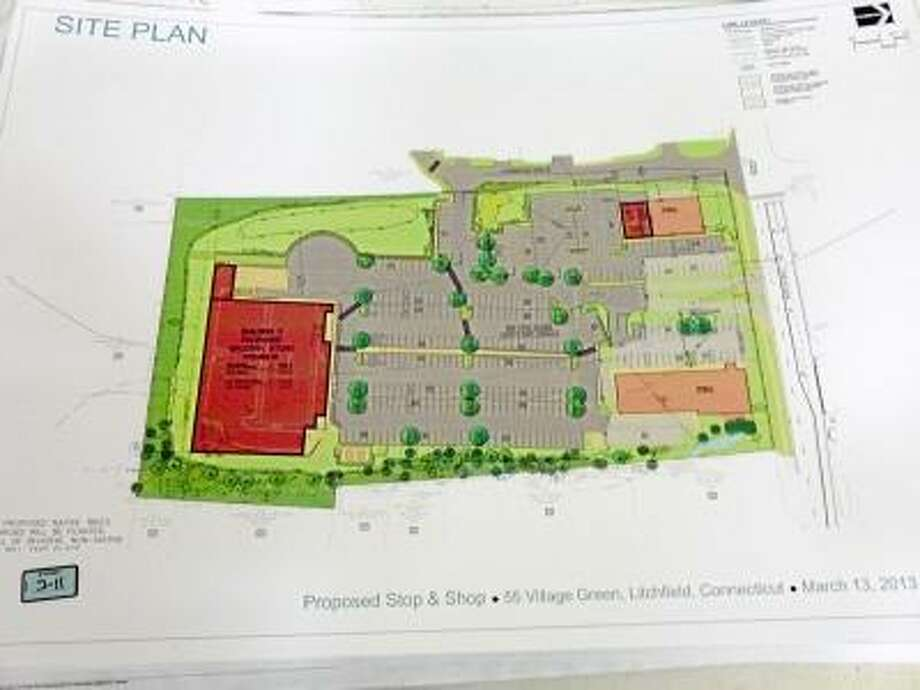 Ryan Flynn/Register Citizen -- Site plan for the proposed new Stop & Shop.